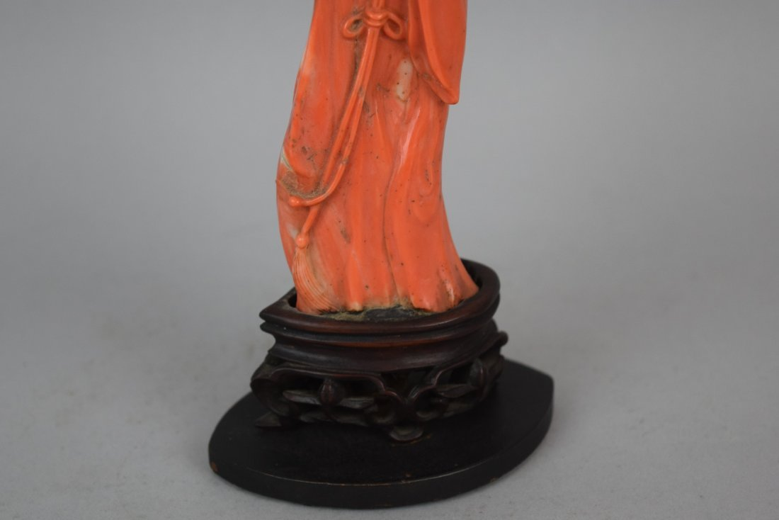 Coral carving. China. 19th century. Figure of the - 4