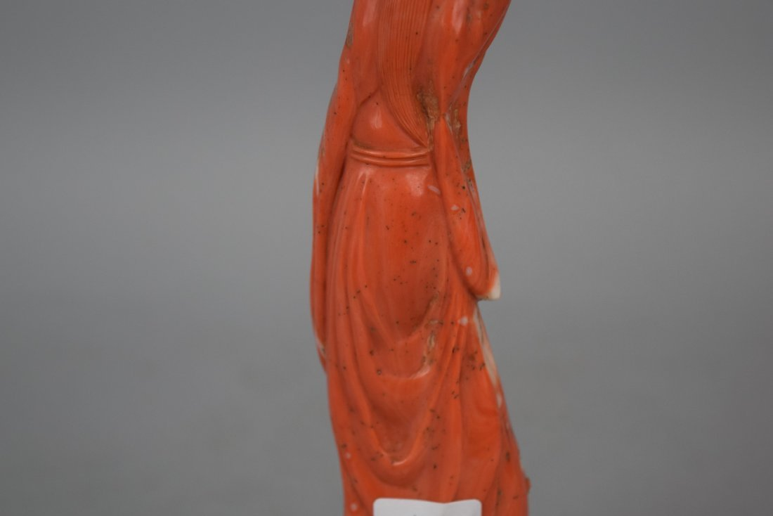 Coral carving. China. 19th century. Figure of the - 8