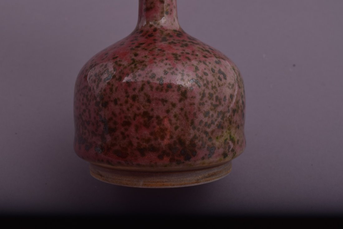 Peach Bloom vase. China. 19th century. Pen shaped. - 5