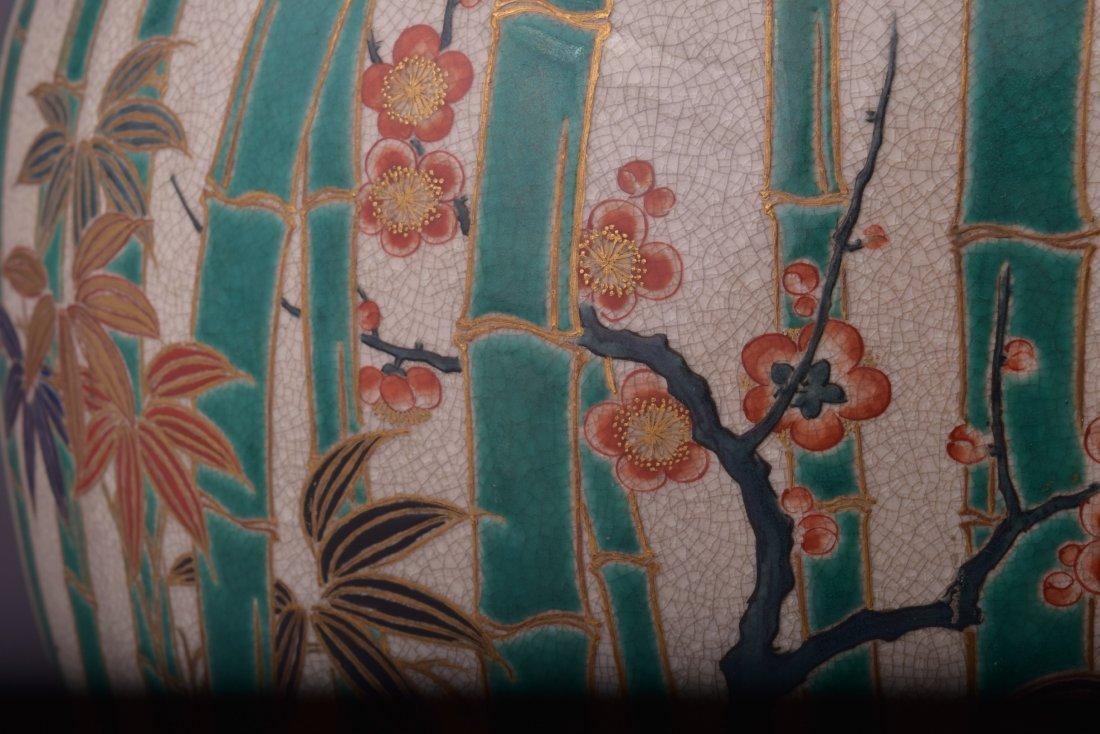 Pottery vase. Japan. 19th century. Satsuma ware. - 3