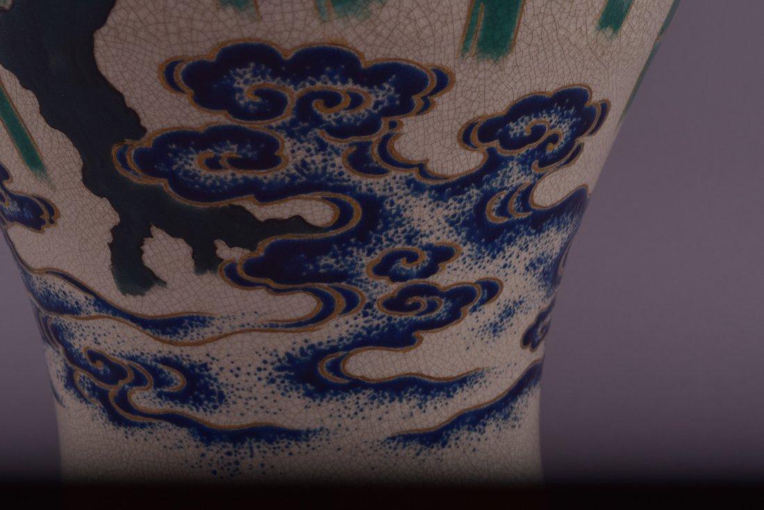 Pottery vase. Japan. 19th century. Satsuma ware. - 4
