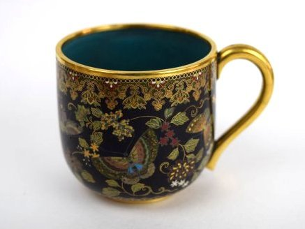 Namikawa cloisonne cup and saucer. Japan. Meiji period. - 2