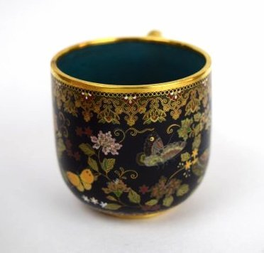 Namikawa cloisonne cup and saucer. Japan. Meiji period. - 3