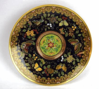Namikawa cloisonne cup and saucer. Japan. Meiji period. - 9