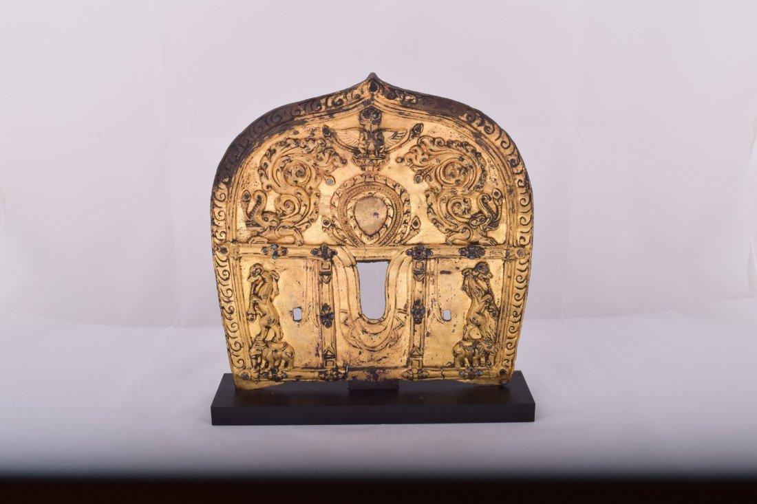 Gilt bronze halo. Nepal. 15th century. Surface - 2
