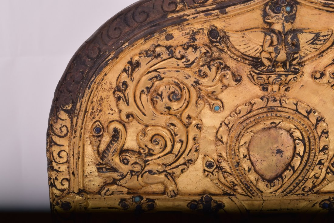 Gilt bronze halo. Nepal. 15th century. Surface - 5