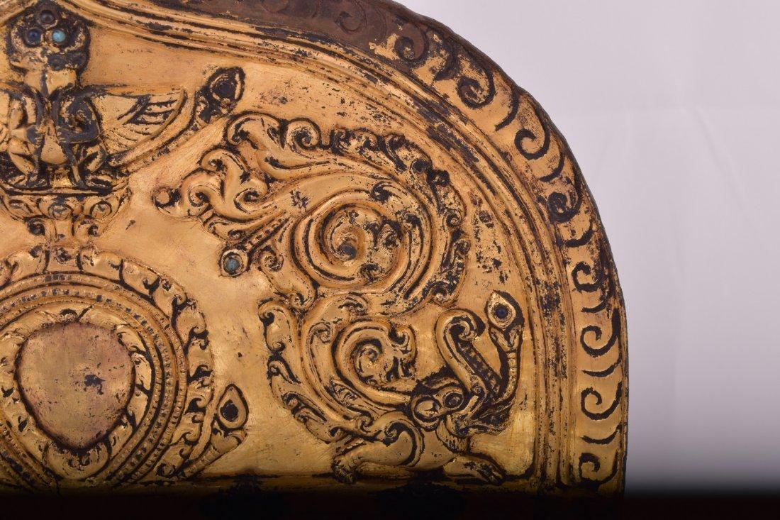 Gilt bronze halo. Nepal. 15th century. Surface - 6