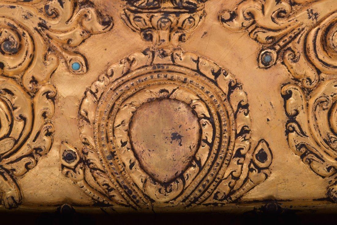 Gilt bronze halo. Nepal. 15th century. Surface - 7