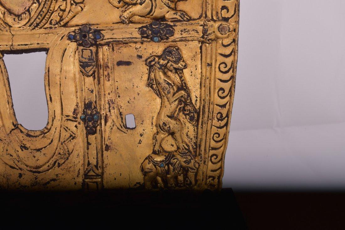 Gilt bronze halo. Nepal. 15th century. Surface - 9
