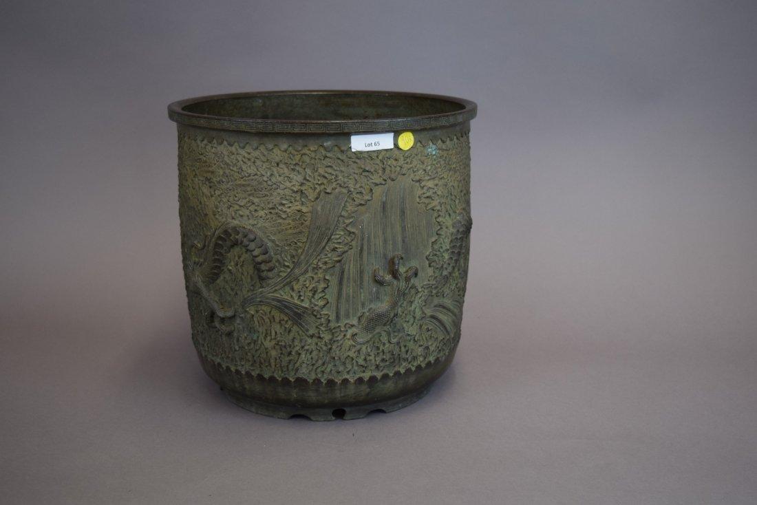 Bronze jardinières. Japan. Meiji period (1868-1912). - 4