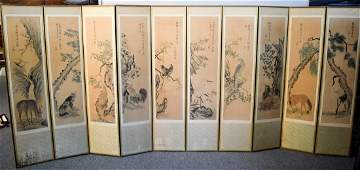 Folding screen Korea Late 19th century Ink and