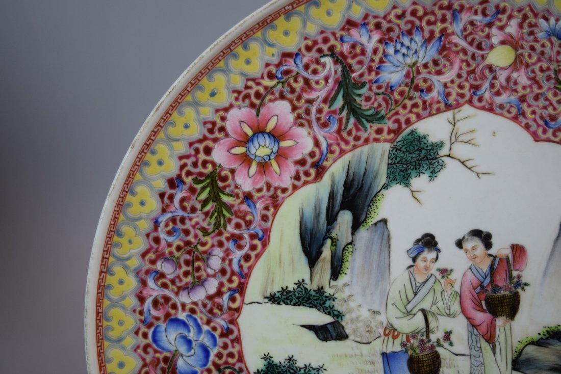 Pair of porcelain plates. China. Dated 1959. Famille - 4