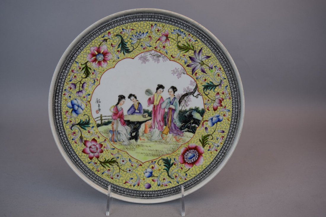 Pair of porcelain plates. China. Dated 1959. Famille - 8