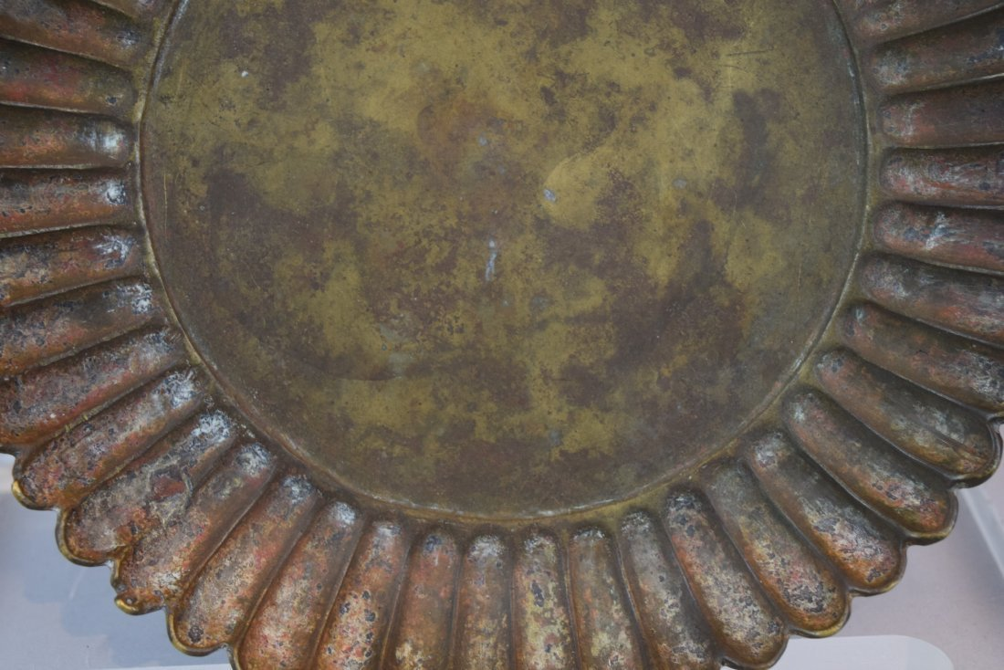 Two bronze dishes. China. Hsuan Te mark and possibly of - 10