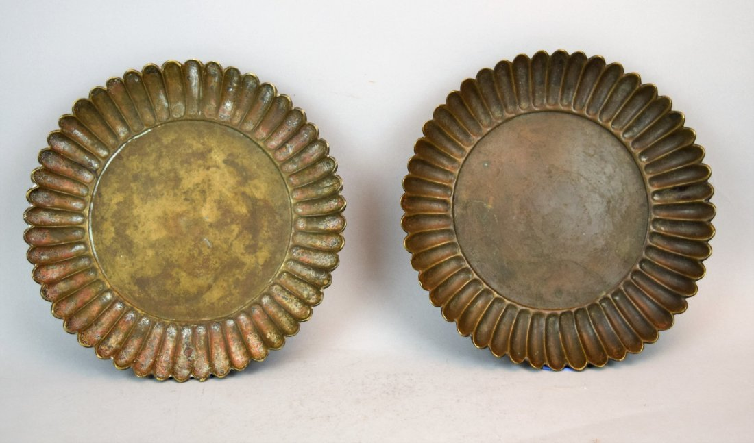 Two bronze dishes. China. Hsuan Te mark and possibly of