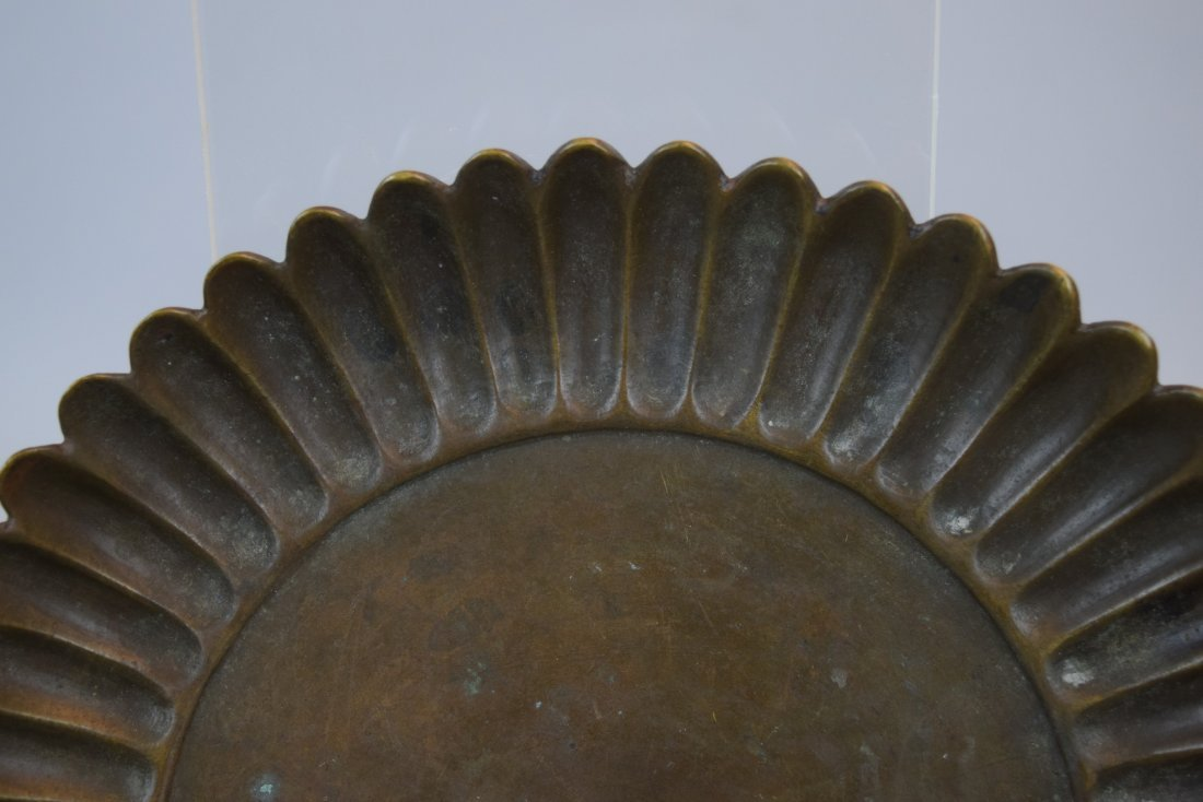 Two bronze dishes. China. Hsuan Te mark and possibly of - 3