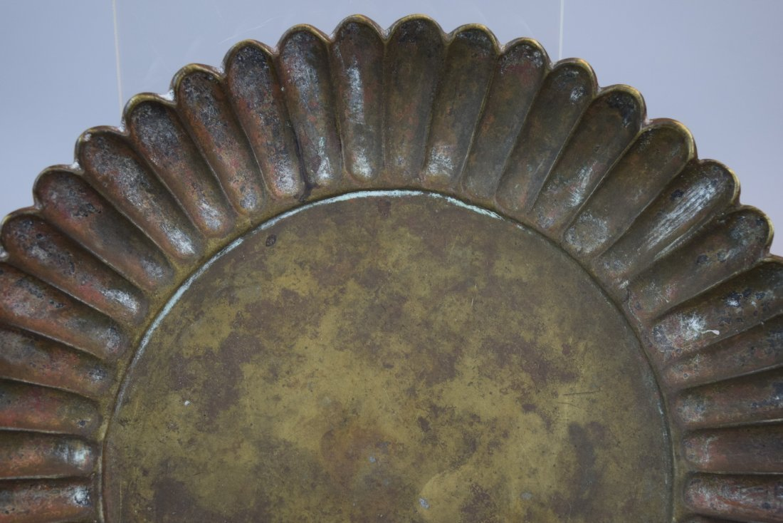 Two bronze dishes. China. Hsuan Te mark and possibly of - 9