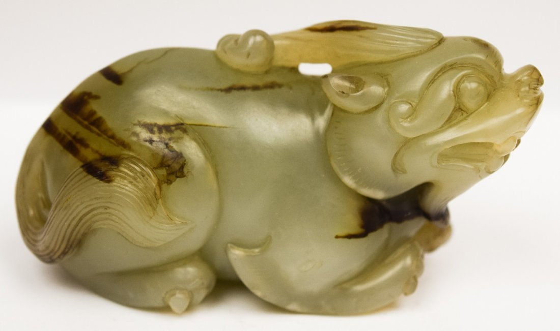 Jade paperweight. China. 19th century. Stone of a grey