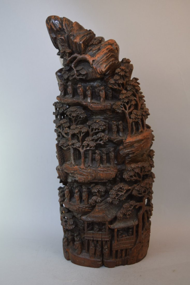 Bamboo Mountain root carving. China. 19th century.