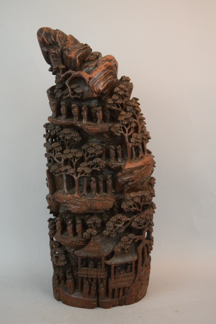 Bamboo Mountain root carving. China. 19th century. - 2