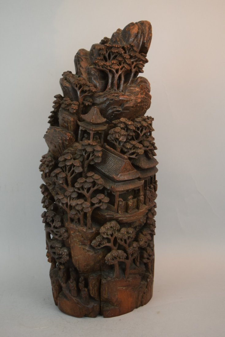 Bamboo Mountain root carving. China. 19th century. - 4