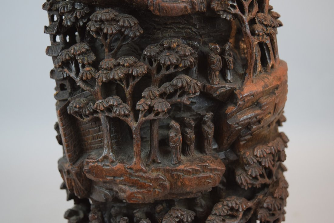 Bamboo Mountain root carving. China. 19th century. - 7