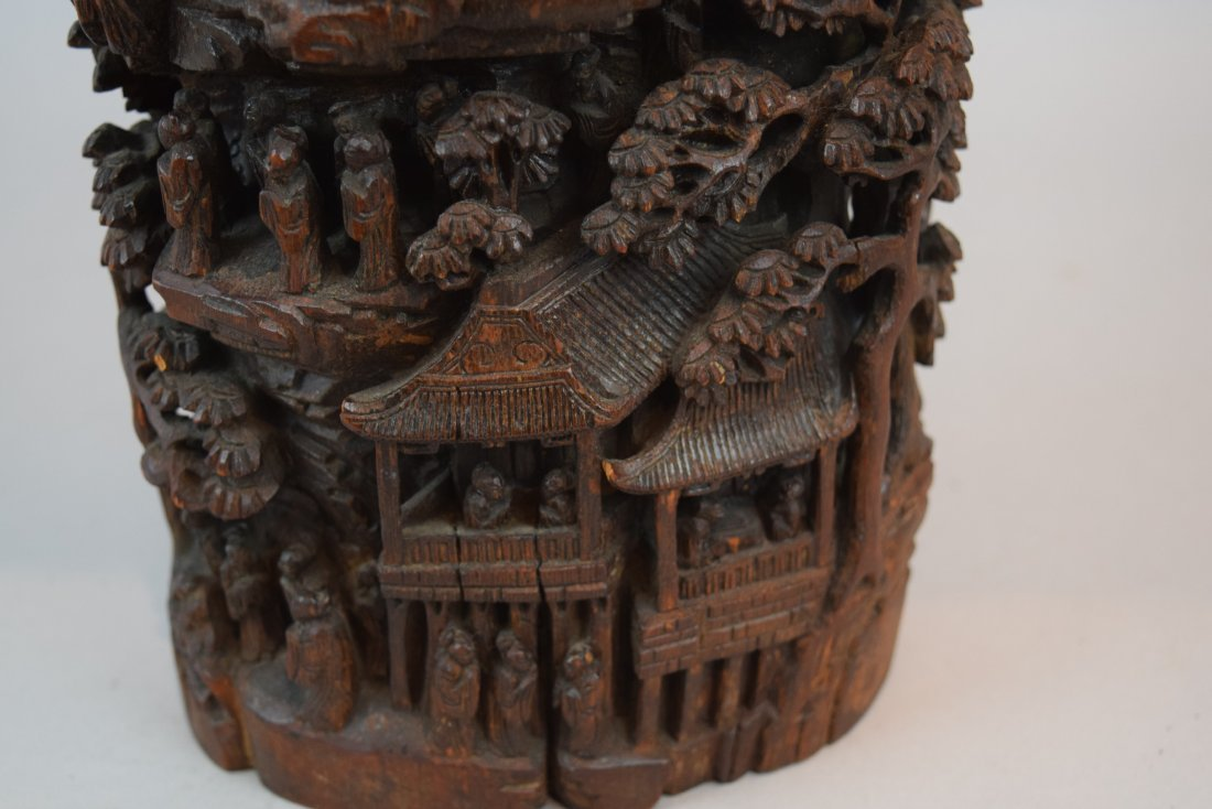 Bamboo Mountain root carving. China. 19th century. - 8