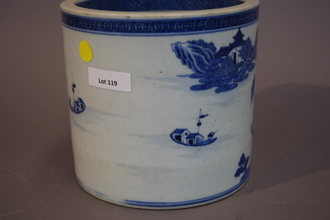 Porcelain wine cooler. Chinese Export ware. Circa 1800. - 3