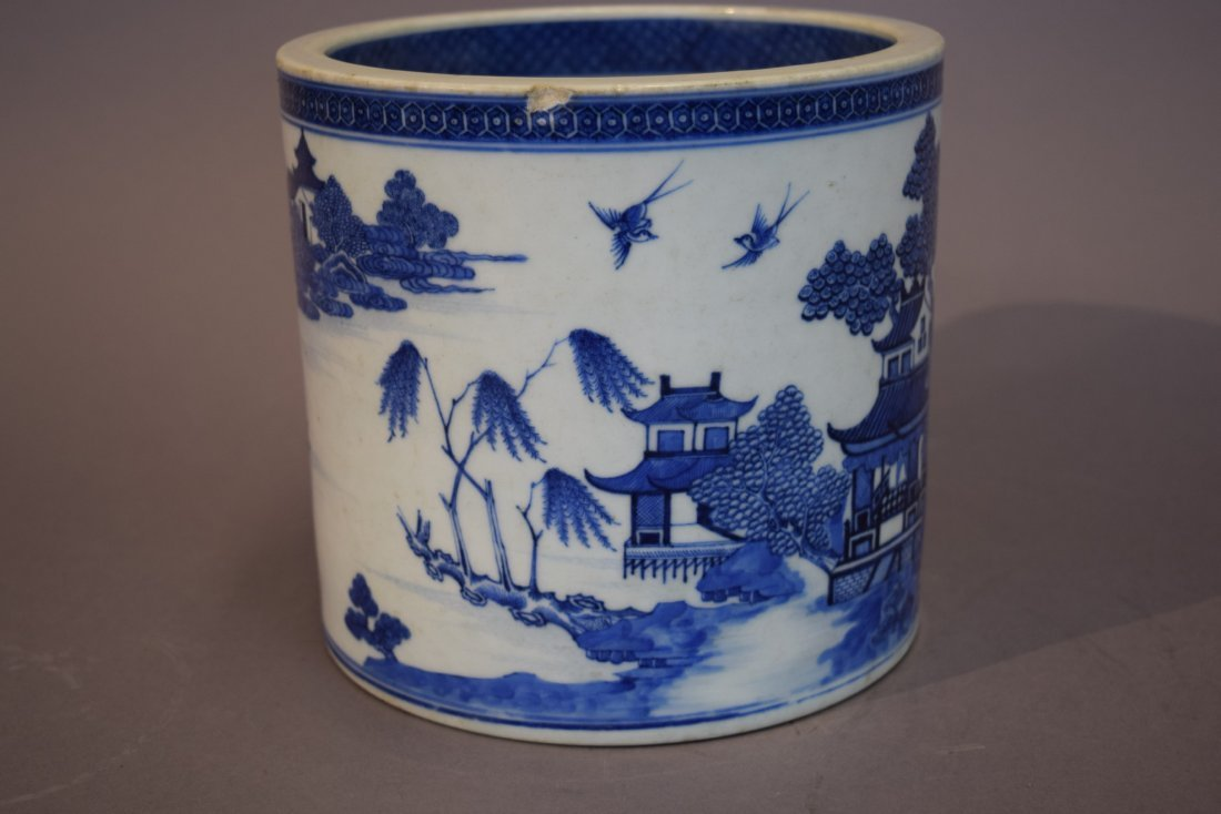 Porcelain wine cooler. Chinese Export ware. Circa 1800. - 4