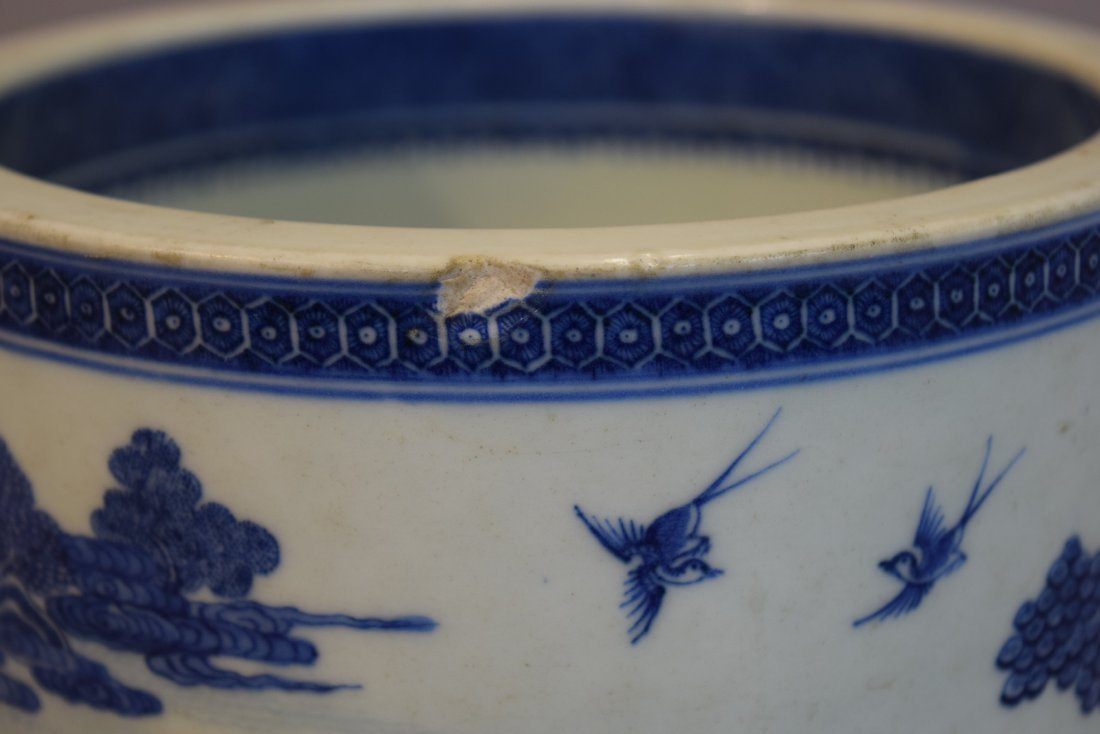 Porcelain wine cooler. Chinese Export ware. Circa 1800. - 5