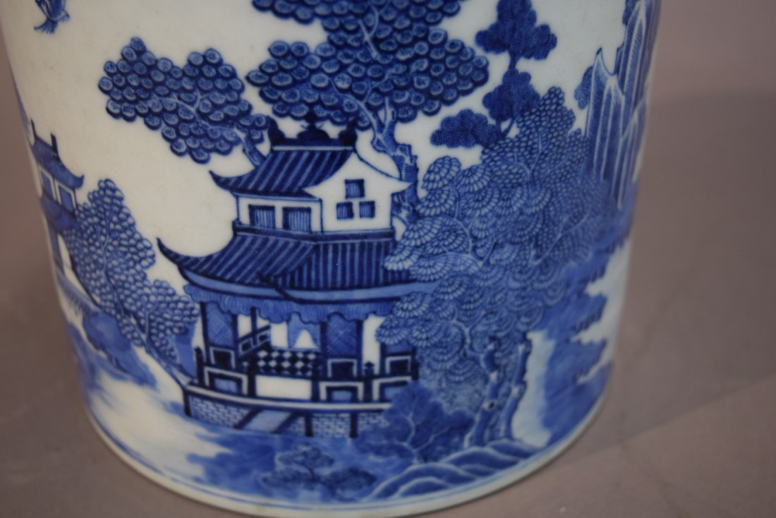 Porcelain wine cooler. Chinese Export ware. Circa 1800. - 6