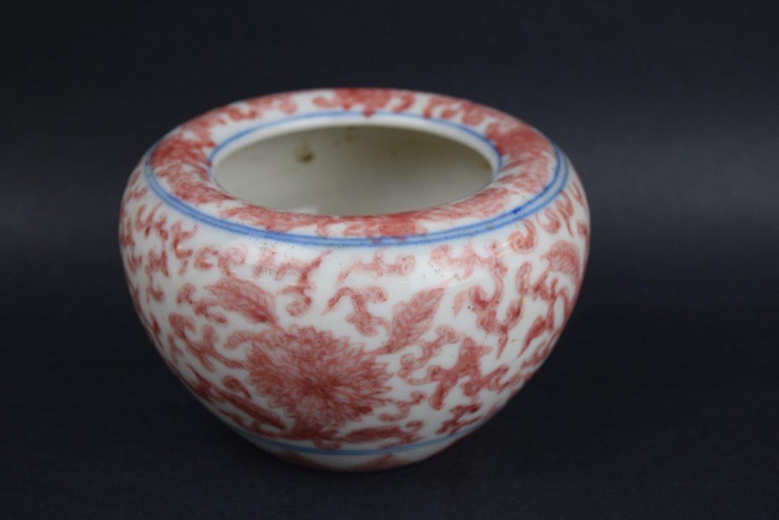 Porcelain water coupe. China. 19th century. Underglaze - 2
