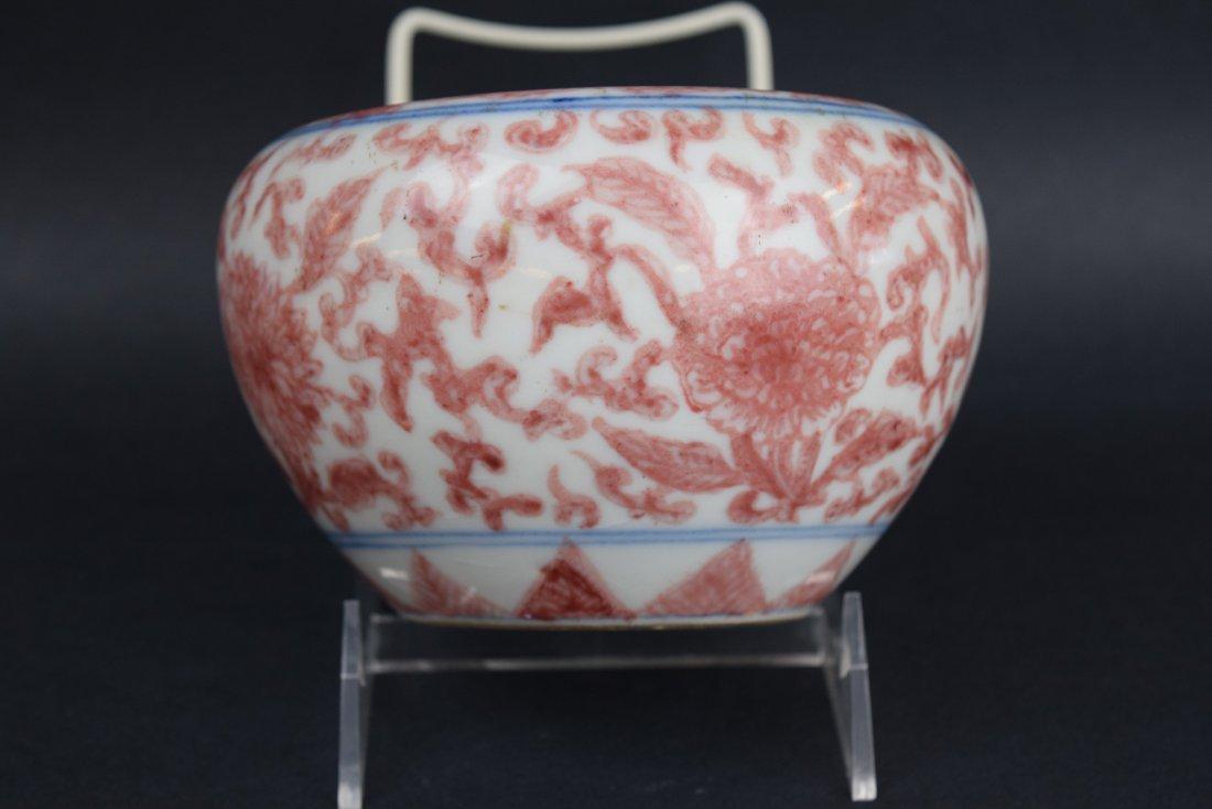 Porcelain water coupe. China. 19th century. Underglaze - 4