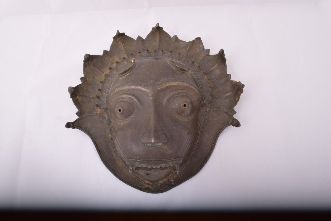 Bronze mask. South India. Early 20th century. Demon