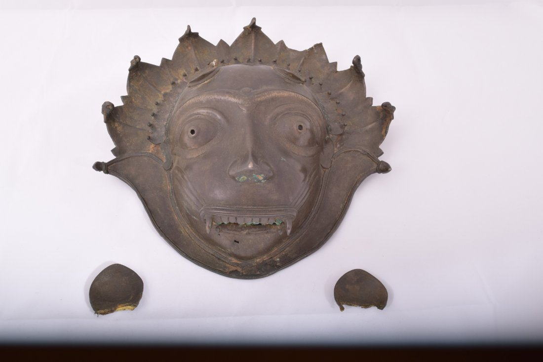 Bronze mask. South India. Early 20th century. Demon - 2