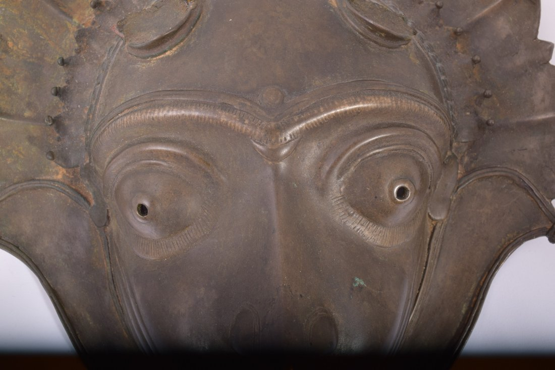 Bronze mask. South India. Early 20th century. Demon - 3