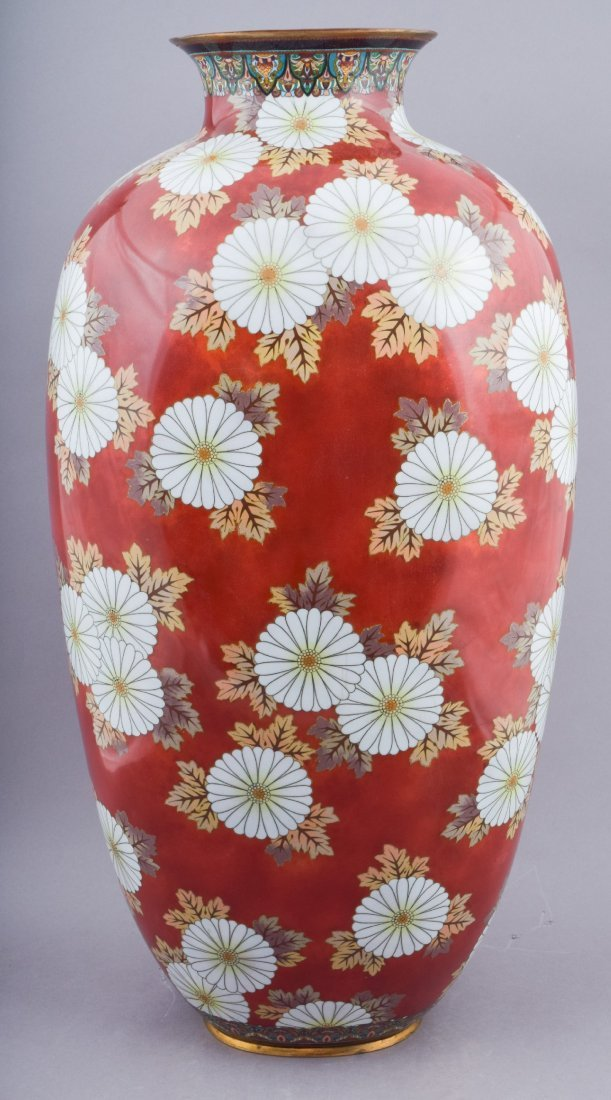 Important pair of Cloisonne vases. Japan. Meiji period