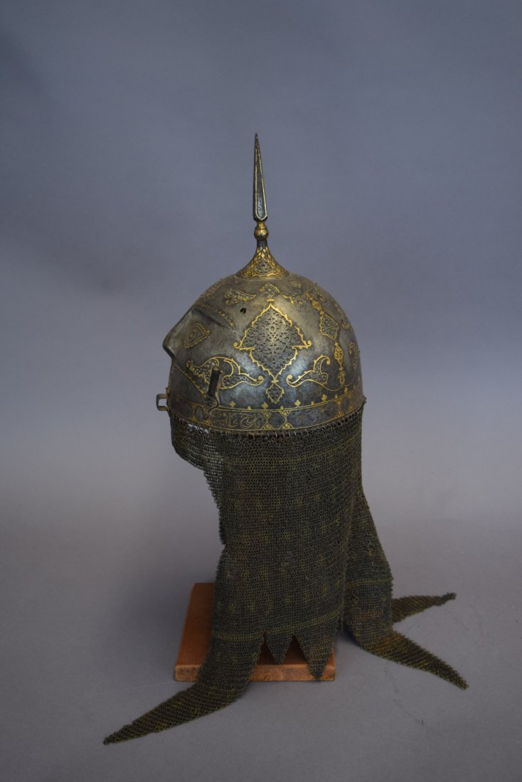 Helmet. Persia. 19th cent. Steel. Kulakhud with demon - 4