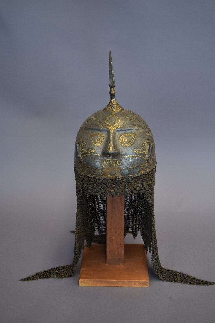 Helmet. Persia. 19th cent. Steel. Kulakhud with demon - 5