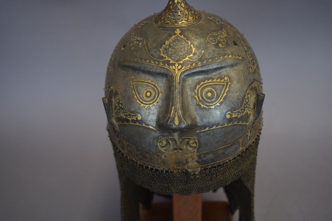 Helmet. Persia. 19th cent. Steel. Kulakhud with demon - 6