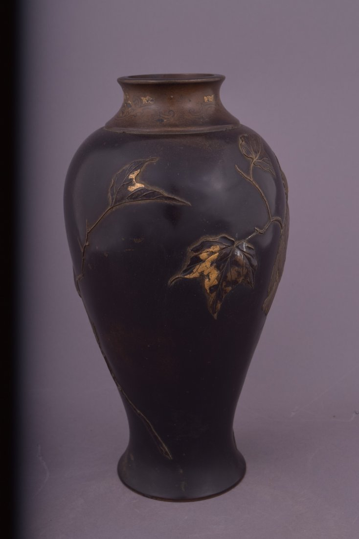 Mixed metal vase. Japan. Meiji period (1868-1912). - 2