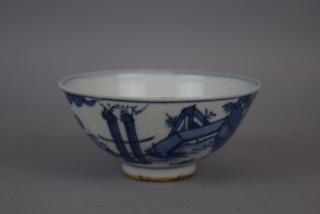 Porcelain bowl. China. Early 20th century. Underglaze - 10