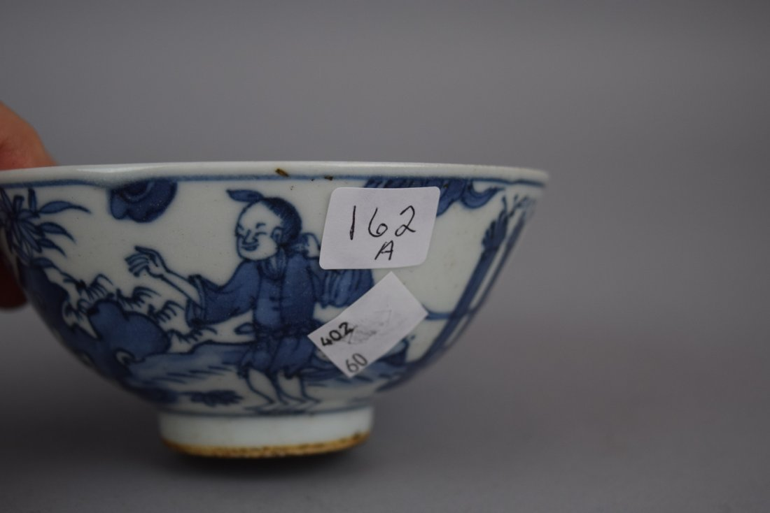 Porcelain bowl. China. Early 20th century. Underglaze - 6