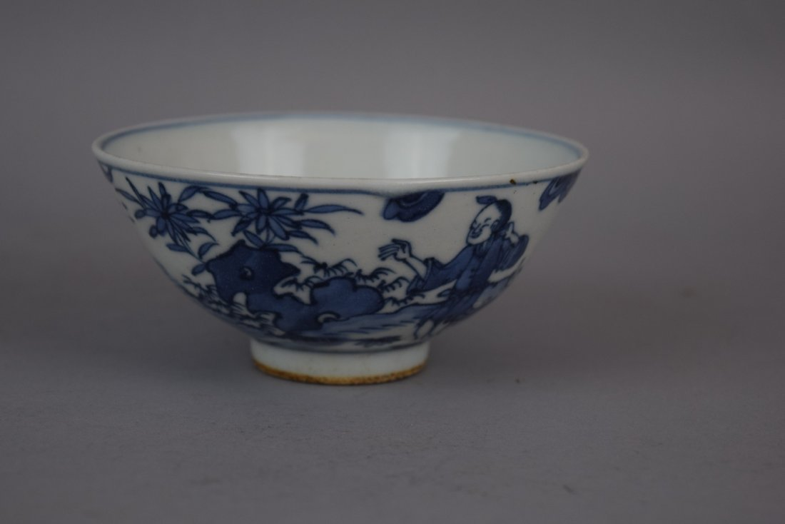 Porcelain bowl. China. Early 20th century. Underglaze - 7