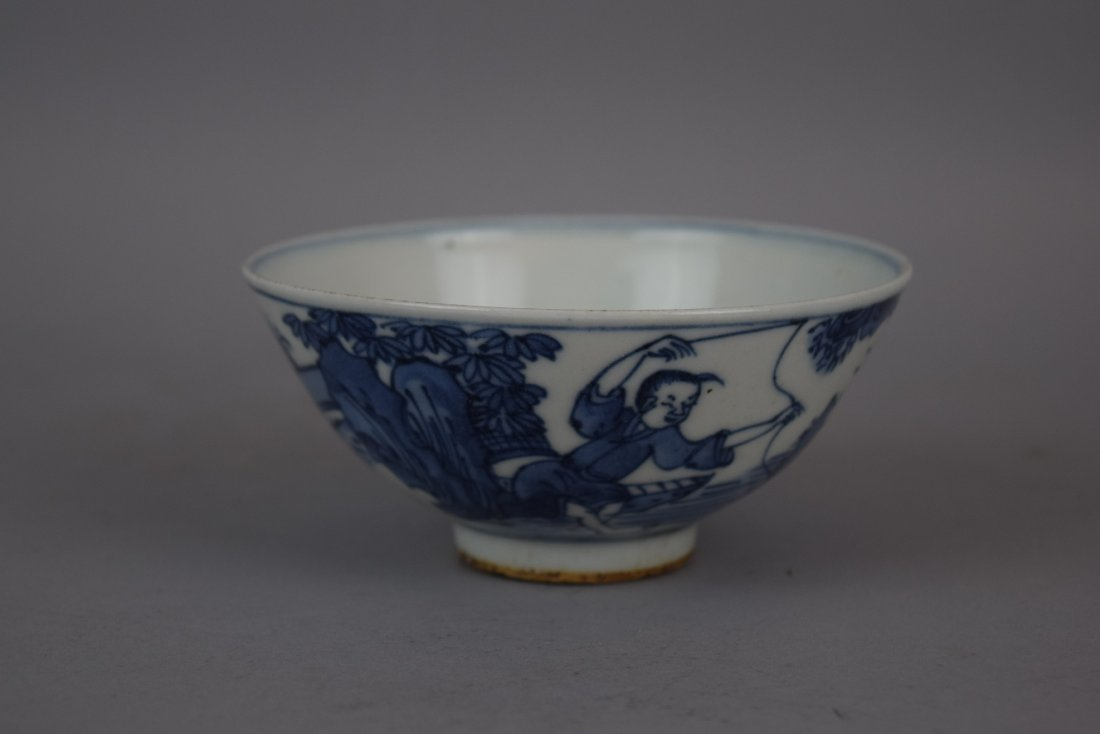 Porcelain bowl. China. Early 20th century. Underglaze - 9