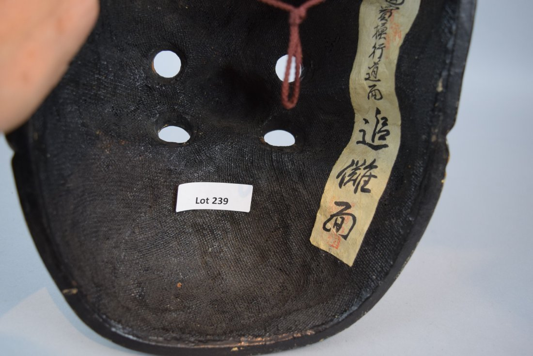 Papier Mache mask. Japanese. Meiji period (1868-1912). - 8