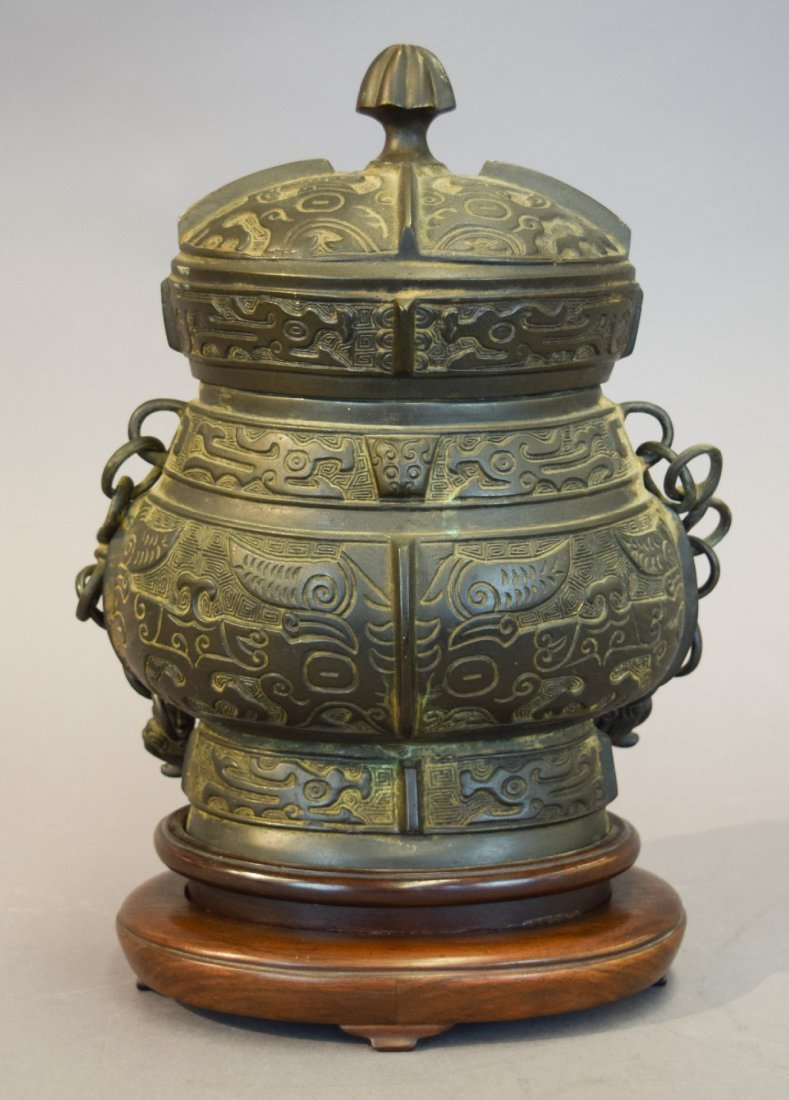 Archaic style bronze vessel. China. Late 19th-early