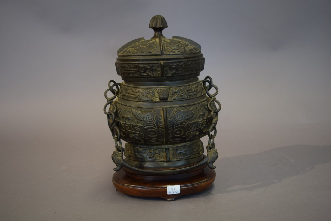 Archaic style bronze vessel. China. Late 19th-early - 3