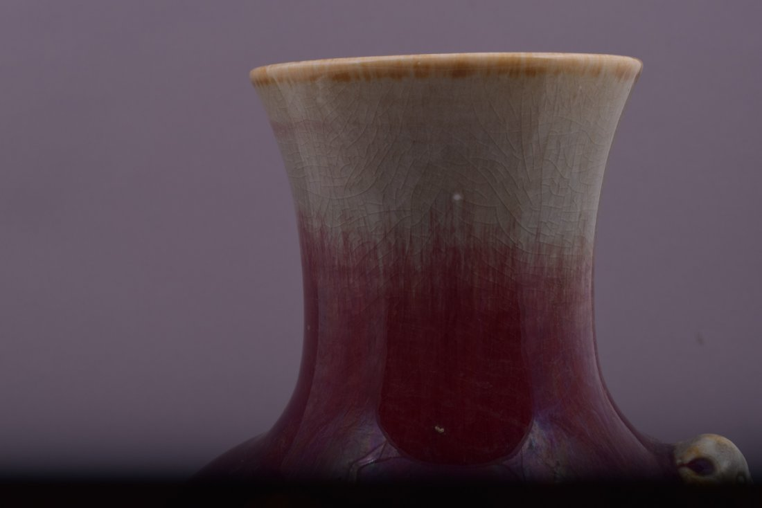 Porcelain vase. China. Late 19th century. Lang Yao vase - 7