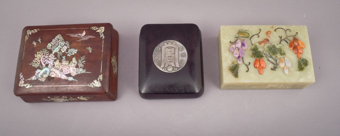 Lot of three Asian boxes to include: A 19th century